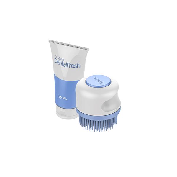 SureGrip Denture Brush + DentalFresh Gel